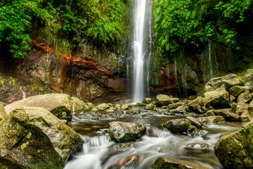 Landscape of madeira island - 25 fontes waterfall