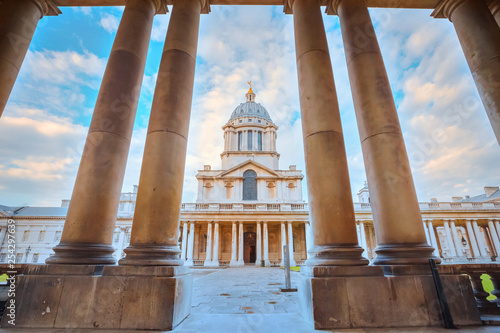 Canvastavla The Old Royal Naval College in London, UK