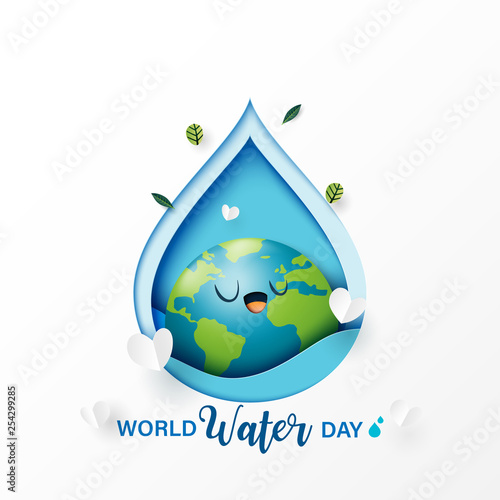 Save Water Advertising Ecology Concept