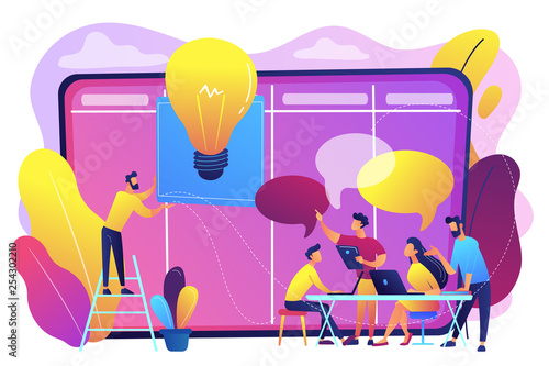 Managers workshop concept vector illustration.
