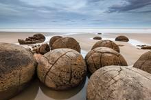 Moeraki Boulders On The Beach,...