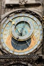 Prague Town Hall Clock, Also Prague Orloj Or Prague Astronomical Clock, Prazsky Orloj, Prague, Czech Republic, Europe