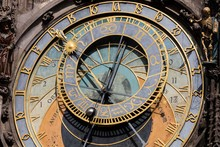 Prague Town Hall Clock, Also Prague Orloj Or Prague Astronomical Clock, Prazsky Orloj, Prague, Czech Republic, Europe