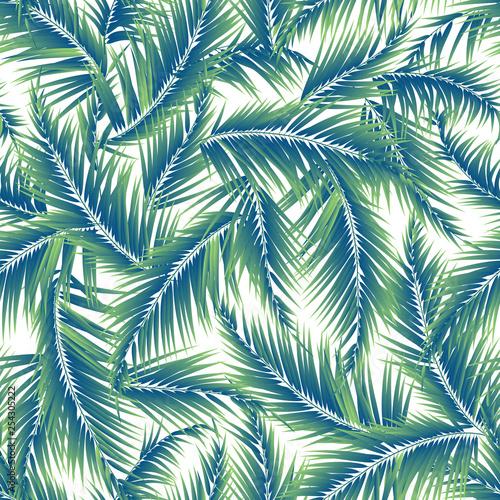 Ingelijste posters Tropische Bladeren Tropical plant illustration pattern