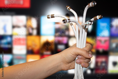 Cable cord cutting television Canvas Print