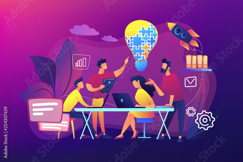 Collaboration concept vector illustration. Wallpaper Mural