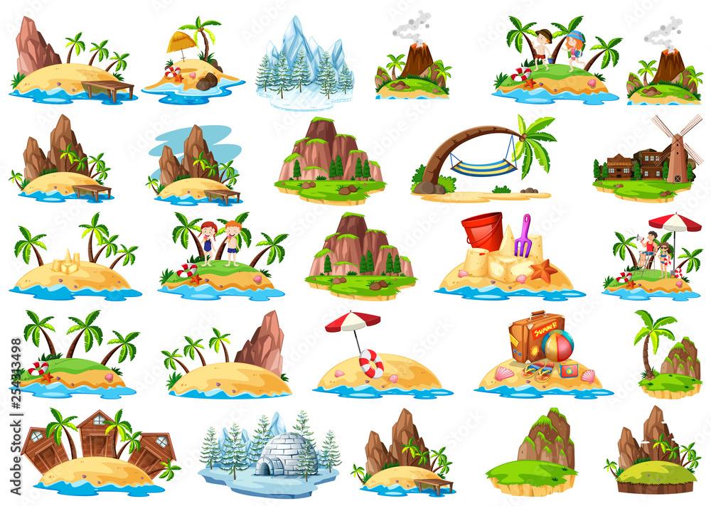 Fototapeta Set of different island