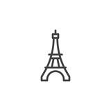 Fototapeta Fototapety z wieżą Eiffla - Eiffel Tower line icon. linear style sign for mobile concept and web design. Paris travel outline vector icon. Symbol, logo illustration. Pixel perfect vector graphics