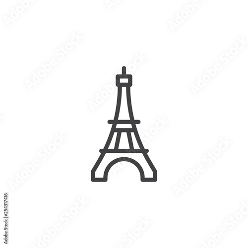 Eiffel Tower line icon. linear style sign for mobile concept and web design. Paris travel outline vector icon. Symbol, logo illustration. Pixel perfect vector graphics