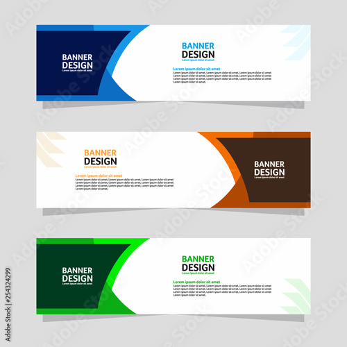 Fototapeta Abstract banner design. Colorful background Illustration vector obraz