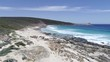 4k drone footage of remote South West Australian beach