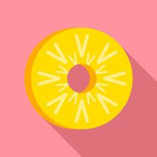Piece Of Pineapple Icon. Flat ...