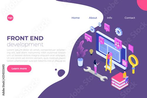 Fotografía  Web design and Front end development isometric concept