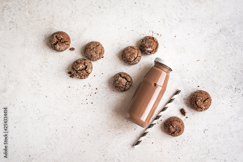 Chocolate Milk and Chocolate Cookies
