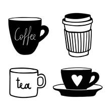 Cups Mug Pattern, Seamless, Ti...