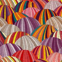 Seamless Embroidered Wavy Patt...