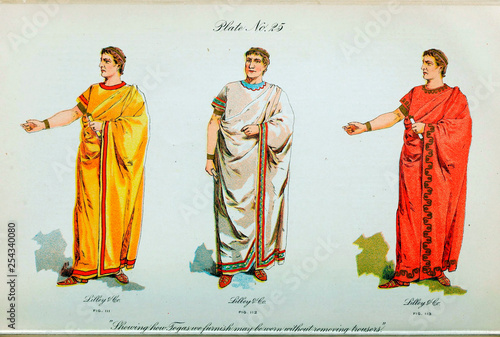 Leinwand Poster Clothing of the middle ages