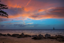 Dramatic Vibrant Sunset Scener...