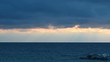 Cloudy Sunset Over Baltic Sea Sweden