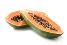 Tasty Papaya On White Background