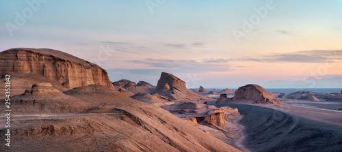 Fotografie, Obraz  Dasht-e Lut Desert in eastern Iran taken in January 2019 taken in hdr