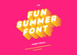 Vector fun summer font