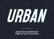 Vector Urban Font Bold Slanted Style