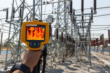 Thermoscan(thermal Image Camera), Industrial Equipment Used For Checking The Internal Temperature Of The Machine For Preventive Maintenance, This Is Checking The Substation Equipment