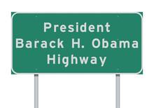 President Barack Obama Highway Road Sign