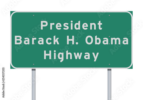 Obraz na plátně President Barack Obama Highway road sign