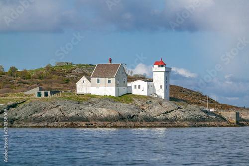 Trondheims Leia lighthouse, near Trondheim, Norway, Scandinavia Canvas Print