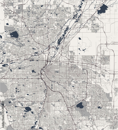 map of the city of Denver, Colorado, USA - Buy this stock vector and Denver Colorado Usa Map on