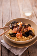 Saffron Risotto With Shrimps And Mussels