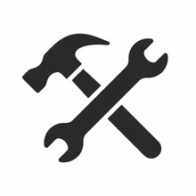 Wrench And Hammer, Tools Icon