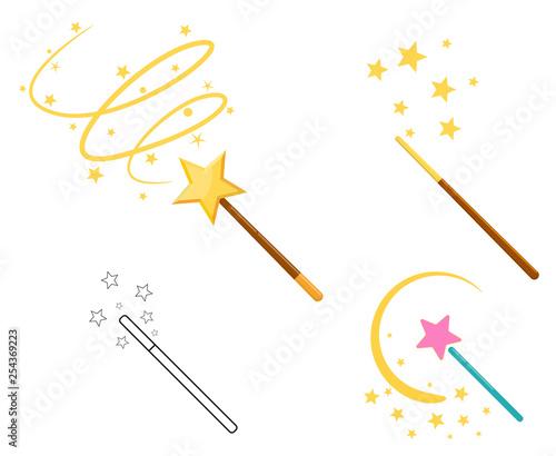 Obraz na plátně Magic wand set