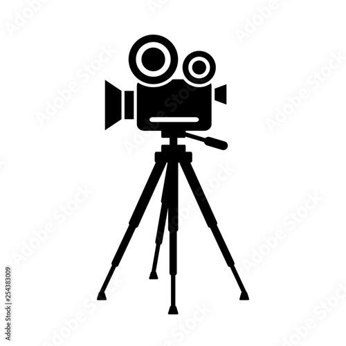 Obraz kamera na statwie ikona - fototapety do salonu