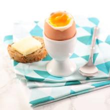 Soft Boiled Egg, Toast With Bu...