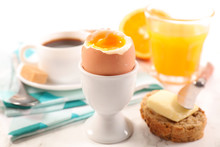 Breakfast With Egg, Coffee And...