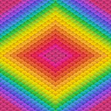 Simple Geometric Blobs Enhanced Double Acid Colored Rainbow Seamless Vector Background