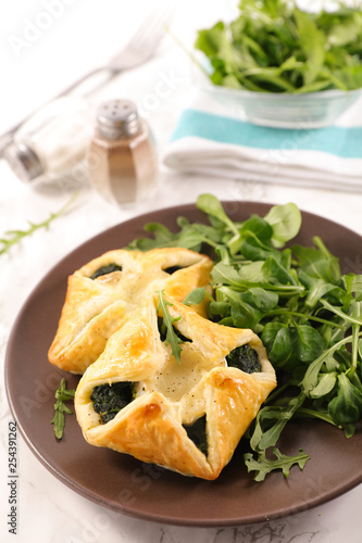 puff pastry with spinach and cheese