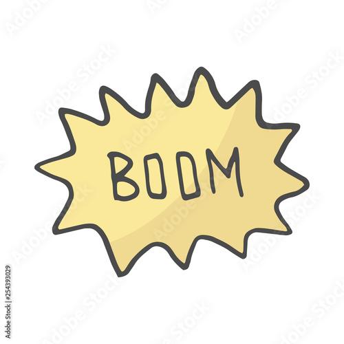 Fotografia  Color Speech Bubble Boom