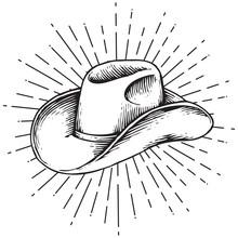 Cowboy Hat - Vintage Engraved ...