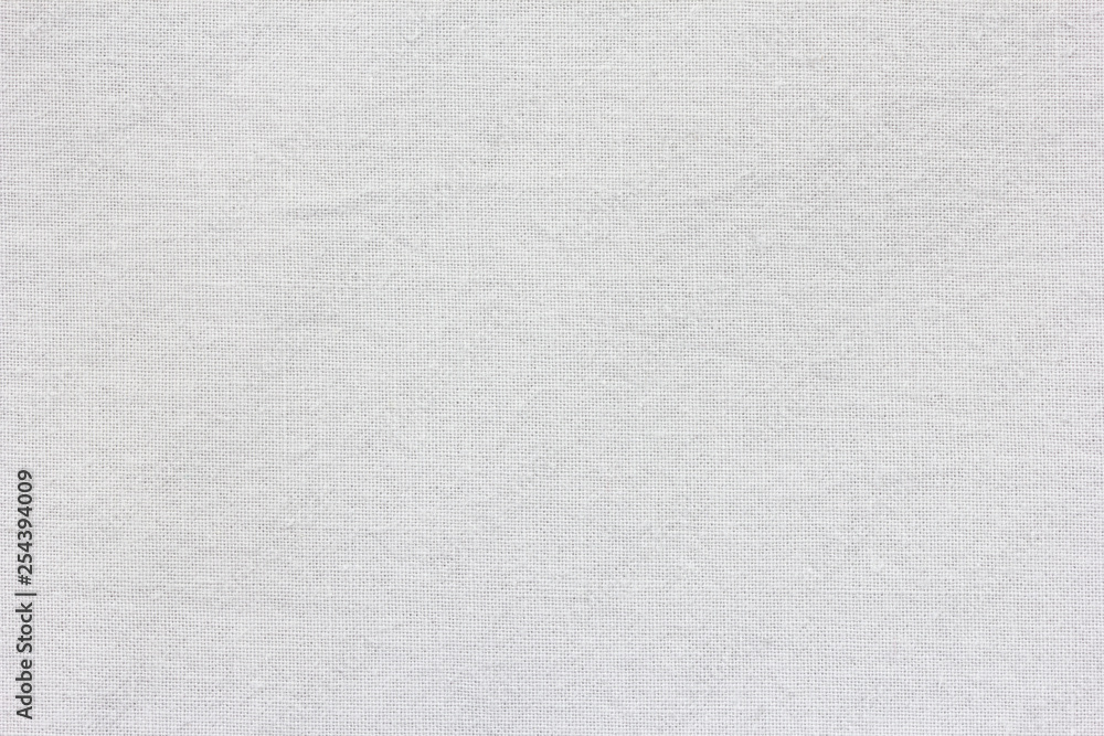 Fototapety, obrazy: White textile texture for background with visible fibers.