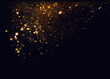 Leinwanddruck Bild - glitter vintage lights background. gold and black. de focused