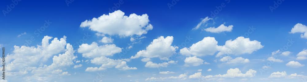 Fototapeta Cloudscape - Blue sky and white clouds