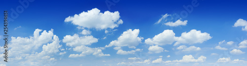 Cloudscape - Blue sky and white clouds - 254394651