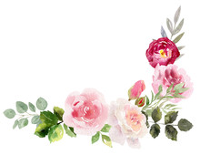 Handpainted Watercolor Frame W...