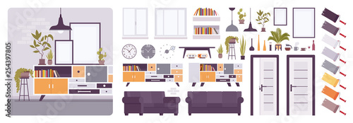 Living Room Interior Home Office Creation Kit Lounge Relaxing