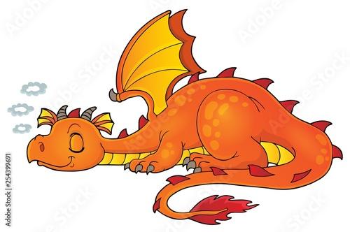 Foto op Aluminium Voor kinderen Sleeping dragon theme image 1