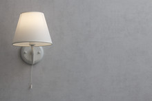 Wall Lamp With White Shade From Canvas